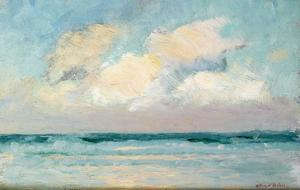 Sea Study - Morning (Oil on Panel) by Adrian Scott Stokes