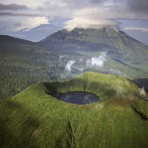 Rwanda Aerial View of Africa, Mount Visoke With by Adrian Warren