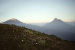 Rwanda Virunga Volcanoes, Karisimbi and Mikeno by Adrian Warren