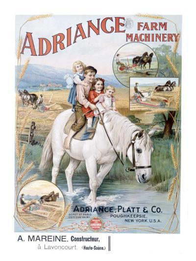 Adriance Farm Harvesting Machinery--Giclee Print