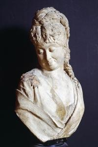 Bust of Young Woman by Adriano Cecioni