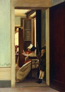 Interrupted Game, 1868 by Adriano Cecioni