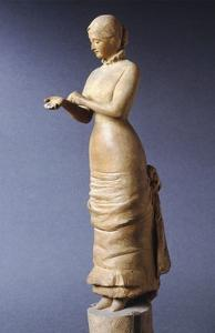 Lady Buttoning Glove by Adriano Cecioni
