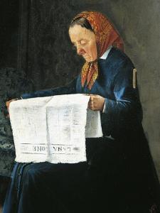 Reading Newspaper by Adriano Cecioni