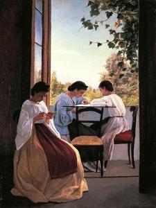 The Embroiderers by Adriano Cecioni