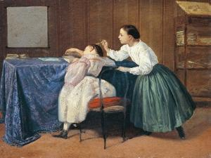 The Tickle, 1865 by Adriano Cecioni