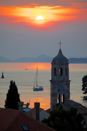 Adriatic Sunset, Cavtat, Dubrovnik Riviera, Dalmatian Coast, Dalmatia, Croatia, Europe-Frank Fell-Photographic Print
