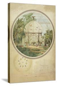 Aviary in a Winter Garden by Adrien Chancel