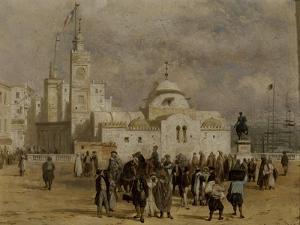 La place du Gouvernement à Alger by Adrien Dauzats