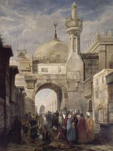 Mosquée d'al-Azhar au Caire by Adrien Dauzats