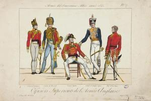 Superior Officers of the English Army, Army of Allied Sovereigns, 1815 by Adrien Pierre Francois Godefroy