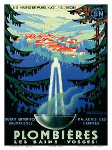 Plombières-les-Bains (Vosges), France c.1939 by Adrien Sénéchal