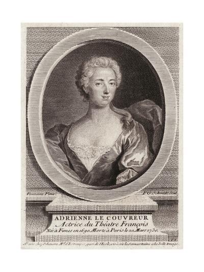 Adrienne Lecouvreur, Oval-FG Schmidt-Giclee Print