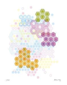 Honeycomb Hexagon by Adrienne Wong