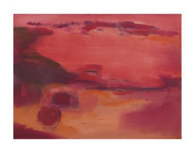 Adrift in Red-Nancy Ortenstone-Art Print