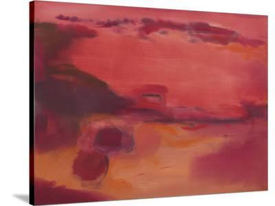 Adrift in Red-Nancy Ortenstone-Stretched Canvas Print