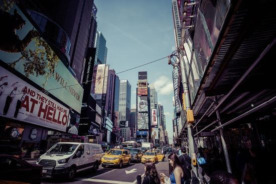Ads on Time Square, architecture, skyscrapers, Streetview, Manhattan, New York, USA-Andrea Lang-Photographic Print