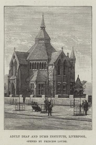 Adult Deaf and Dumb Institute, Liverpool, Opened by Princess Louise--Giclee Print