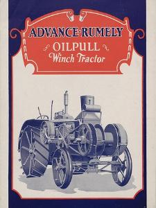 Advance-Rumely Oil Pull Winch Tractor