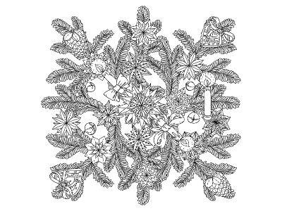 Advent Wreath Ornament Coloring Art--Coloring Poster