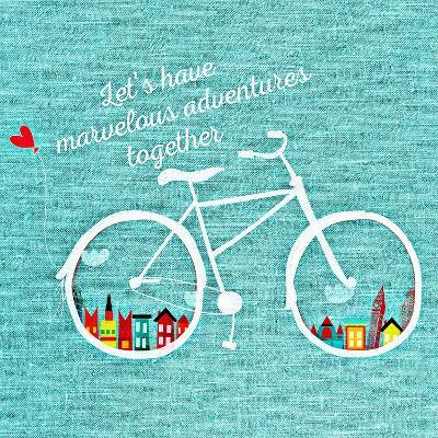 Adventure Bike-Wonderful Dream-Art Print