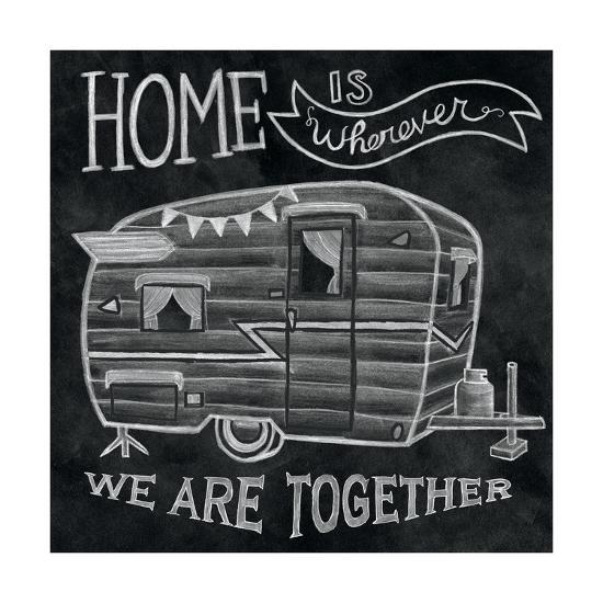 Adventure Love Camper Chalk-Mary Urban-Art Print