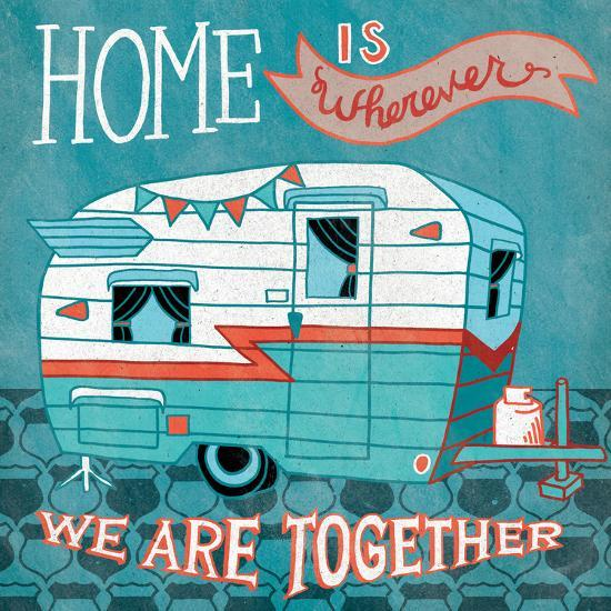 Adventure Love Camper-Mary Urban-Art Print