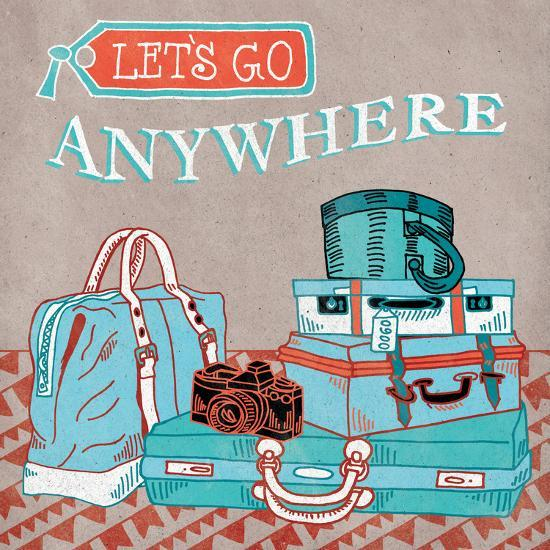 Adventure Love Suitcase-Mary Urban-Art Print