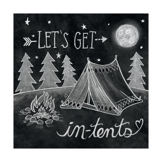 Adventure Love Tent Chalk-Mary Urban-Art Print