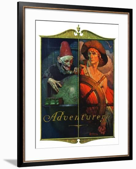 """Adventurers"", April 14,1928-Norman Rockwell-Framed Giclee Print"