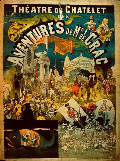 Adventures of Mr De Crac - French Circus Poster--Giclee Print