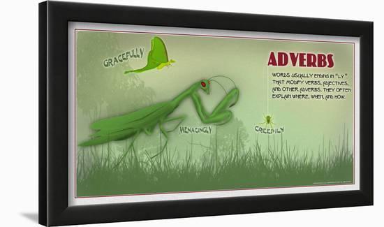 Adverbs-Christopher Rice-Lamina Framed Art Print