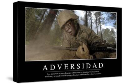 Adversidad. Cita Inspiradora Y Póster Motivacional