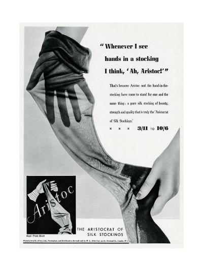 Advert for Aristoc Stockings 1936--Giclee Print