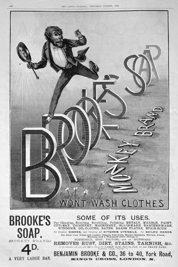 Advert for Brooke's Monkey Brand Soap, 1889--Giclee Print