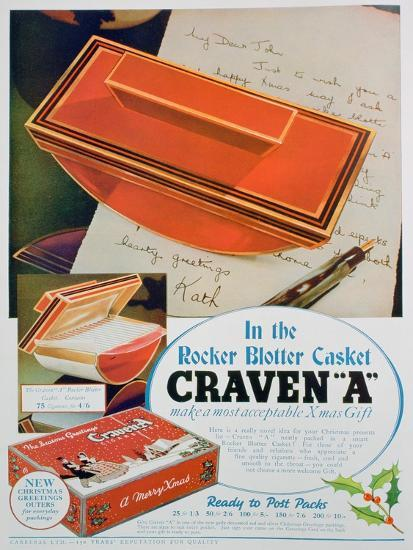Advert for Craven 'A' Cigarettes, 1936--Giclee Print