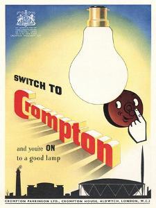 Advert for 'Crompton' Lightbulbs