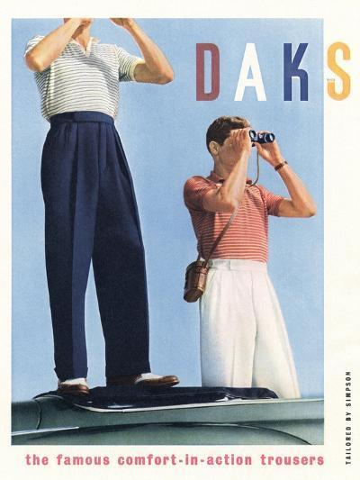 Advert for 'Daks' Trousers--Giclee Print
