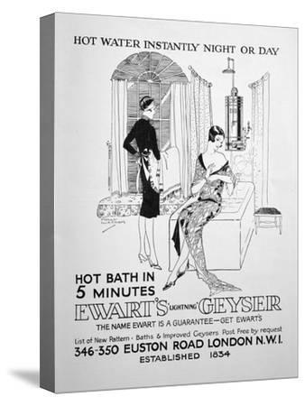 Advert for Ewart's Geyser for Hot Water, 1928