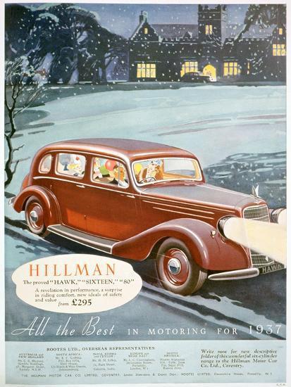 Advert for Hillman Motor Cars, 1936--Giclee Print