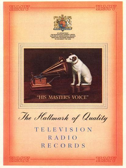 Advert for 'His Master's Voice', Illustration from the 'South Bank Exhibition' Catalogue-English-Giclee Print