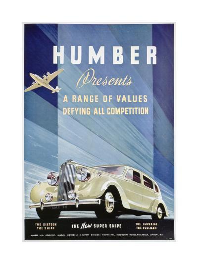 Advert for Humber Motor Cars, 1938--Giclee Print