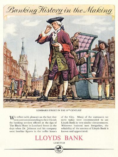 Advert for Lloyds Bank--Giclee Print
