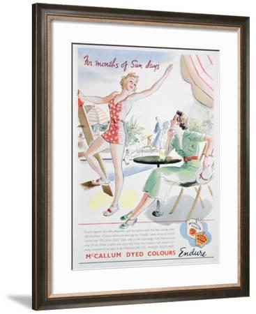 Advert for Mccallum Dyed Colours, 1937--Framed Giclee Print