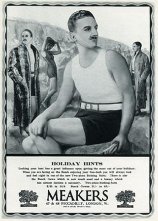 Advert for Meakers Mens Swimwear 1927