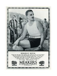 Advert for Meakers Mens Swimwear 1927