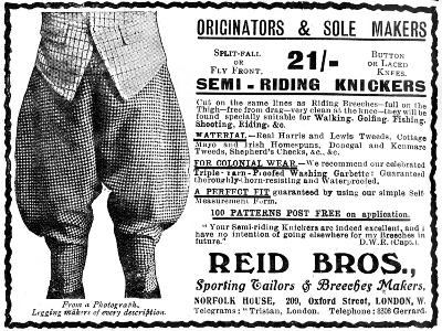 Advert for Reid Bros, Sporting Tailors and Breeches Makers--Giclee Print