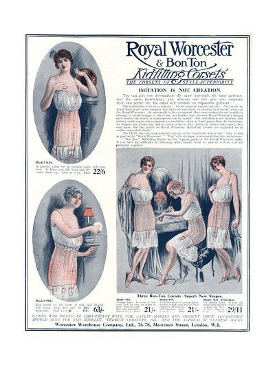 Advert for Royal Worcester Corsets 1922--Giclee Print