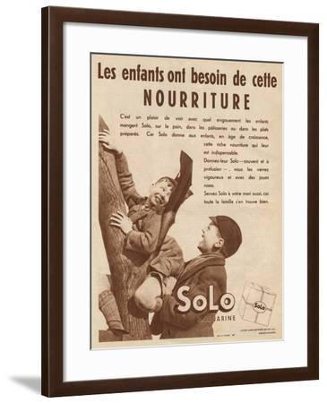 Advert for 'Solo' Margarine--Framed Photographic Print