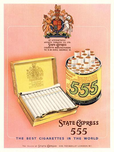Advert for 'State Express 555' Cigarettes--Giclee Print